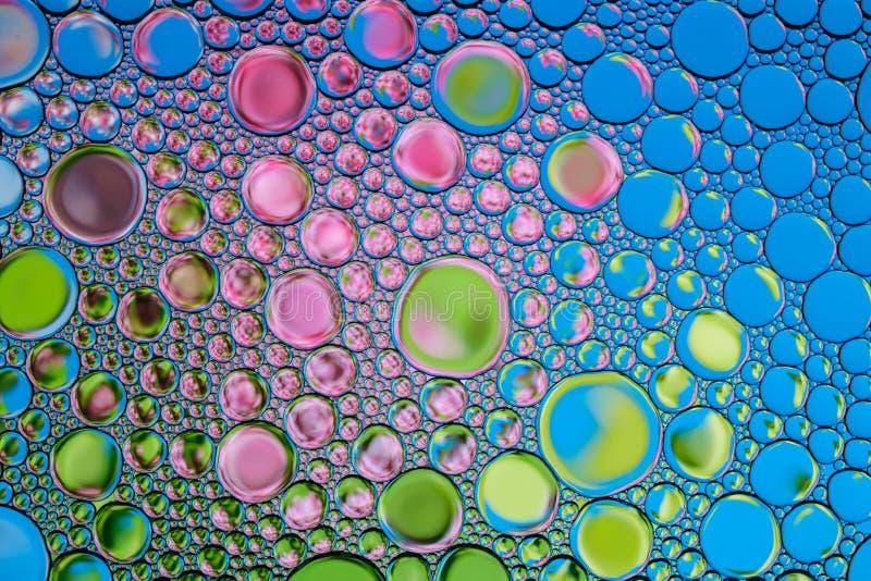 色的泡影背景  自然背景 库存照片