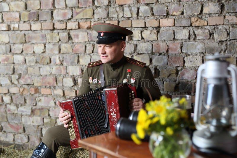 苏联军队的官员 免版税库存图片