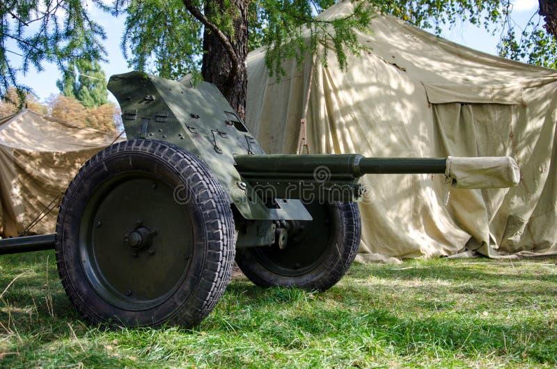 苏联45mm枪 库存照片