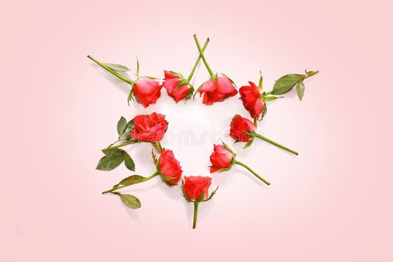 英国兰开斯特家族族徽在心形在浅粉红色的背景,与拷贝空间的爱概念放置了 库存照片