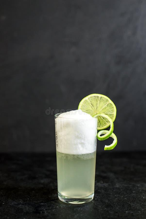 蛋杜松子酒嘶嘶响鸡尾酒 库存图片