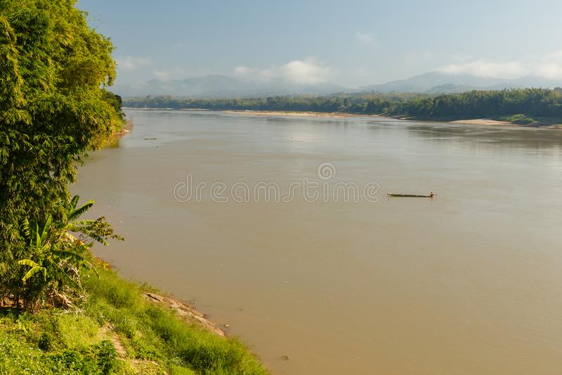 老挝湄公河 库存照片