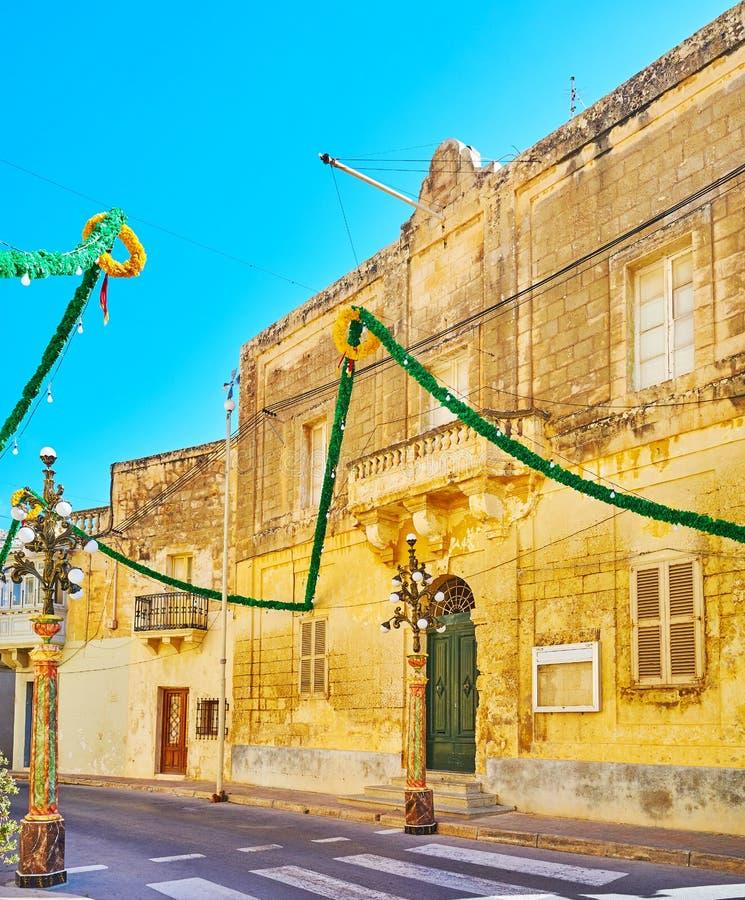 老豪宅在锡杰维,马耳他 图库摄影
