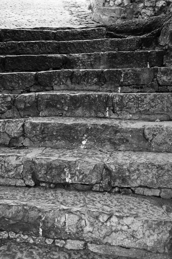 老胭脂石楼梯 免版税库存图片
