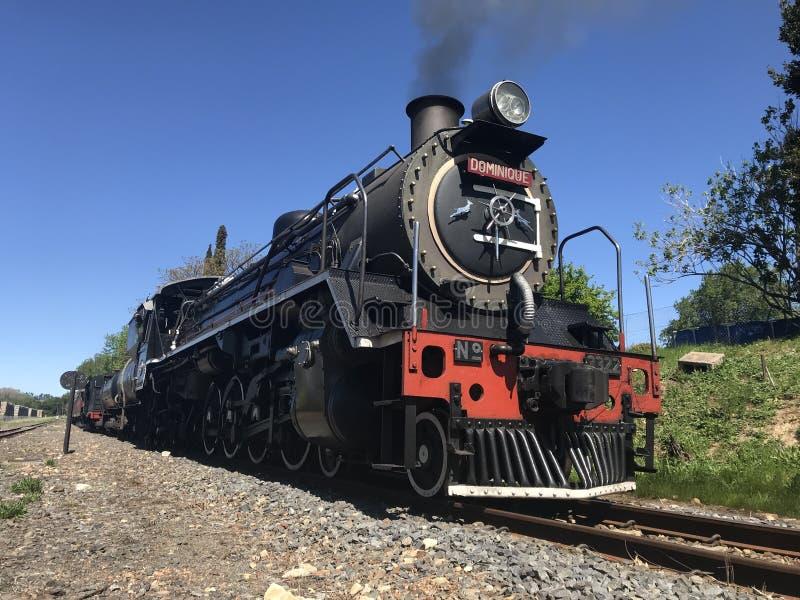 老蒸汽机车在埃尔金 库存照片