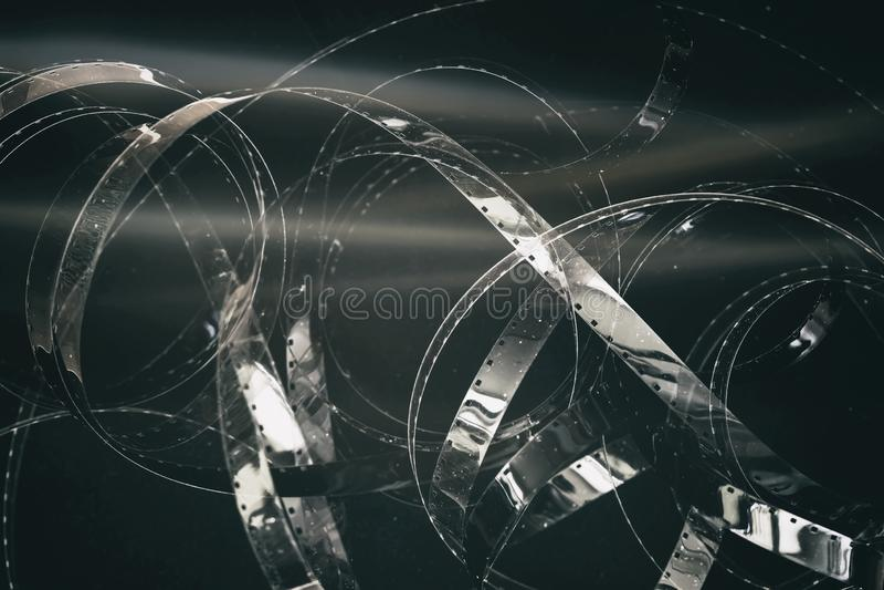 老黑白底片卷,减速火箭的卷轴,filmstrip,胶片 背景几何老装饰品纸张葡萄酒 图库摄影