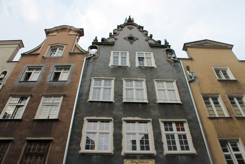 老镇格但斯克波兰的建筑学 免版税库存图片