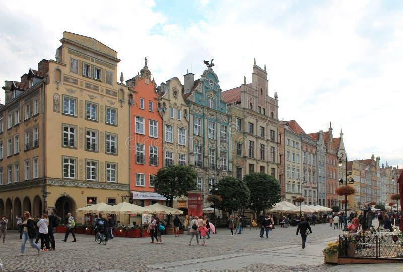 老镇格但斯克波兰的建筑学 库存照片