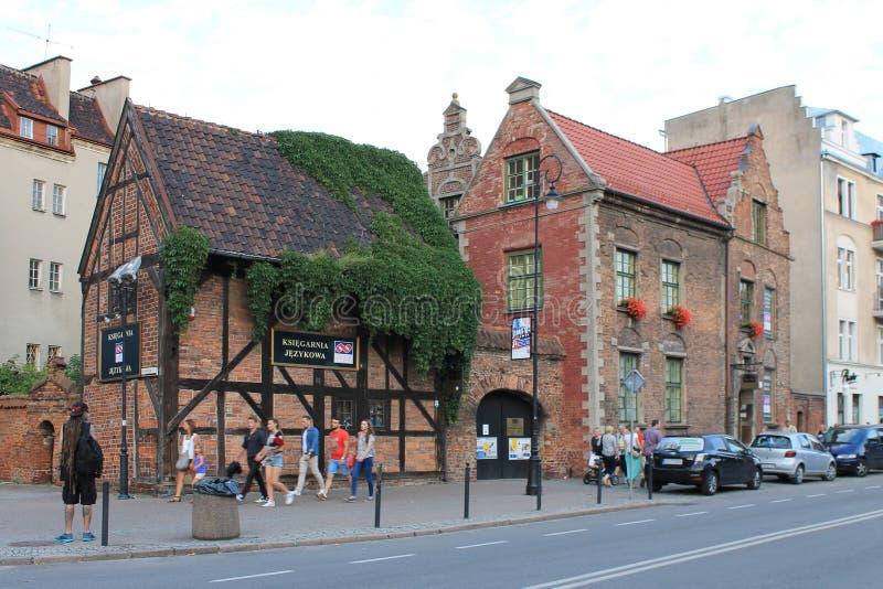 老镇格但斯克波兰的建筑学 库存图片