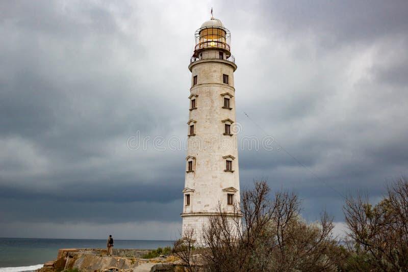 老Chersonese灯塔在塞瓦斯托波尔 免版税库存图片