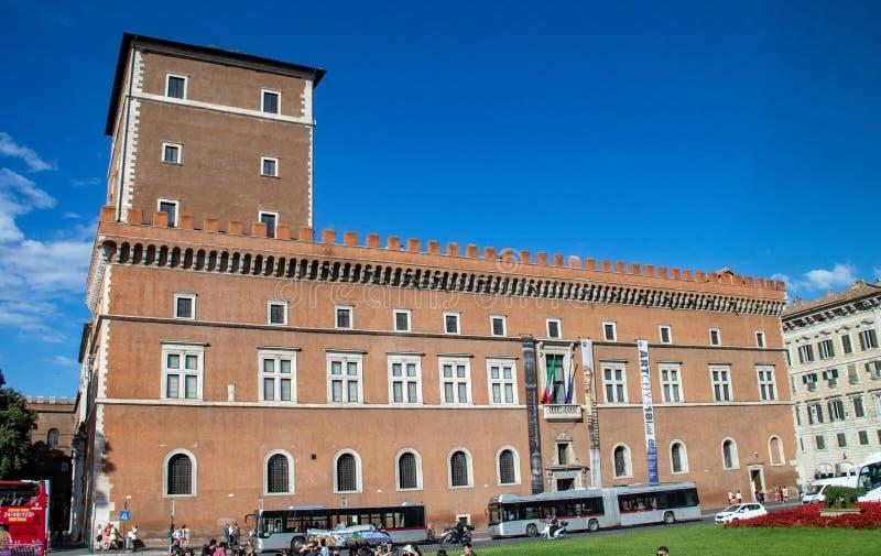 贝尼托・墨索里尼前住所威尼斯广场的 免版税库存照片