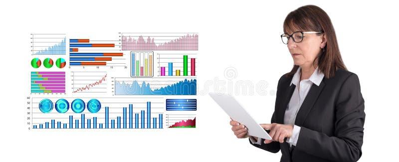 财务分析的概念 免版税库存照片