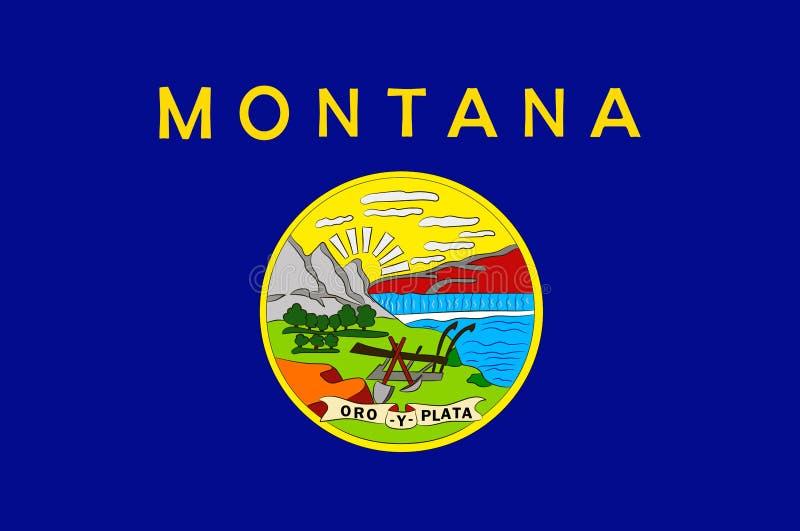 蒙大拿,美国的旗子 皇族释放例证