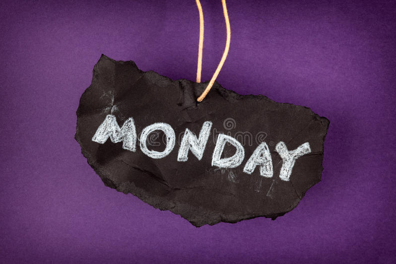 È ancora lunedì fotografie stock