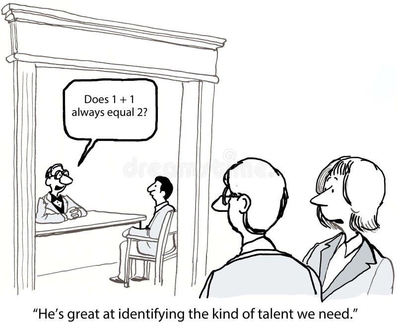 è diventato il job hysterical uno di intervista loro royalty illustrazione gratis