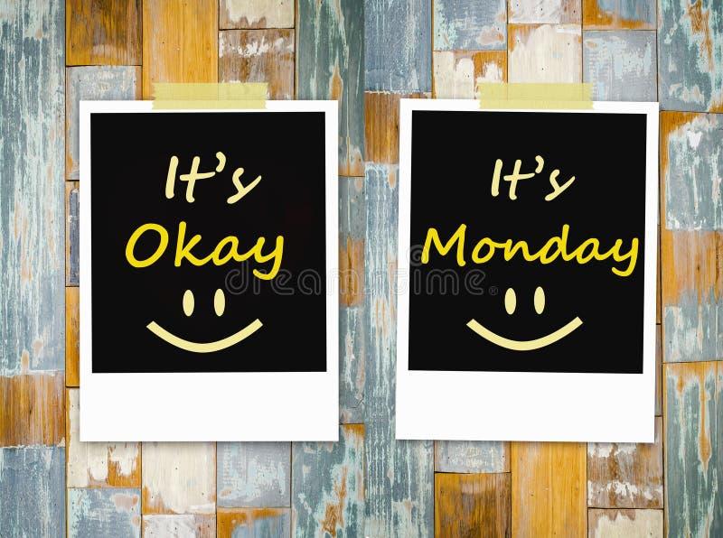 È giusto, è lunedì fotografie stock