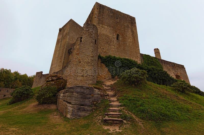 È il più vecchio e migliore castello romanico conservato in Europa immagine stock
