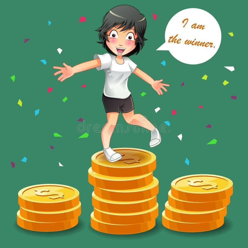 È il vincitore royalty illustrazione gratis