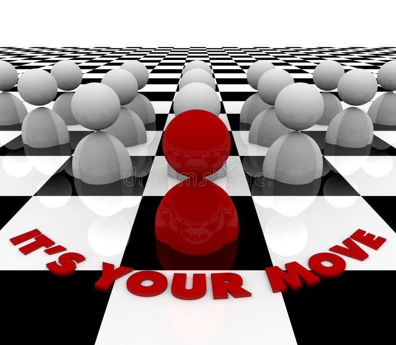 È il vostro movimento - scheda di scacchi illustrazione vettoriale
