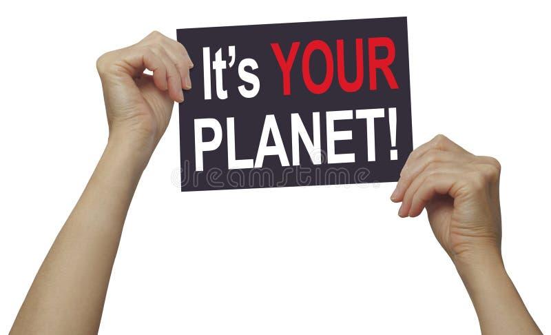 È il vostro pianeta - prego amore e cura per  immagini stock