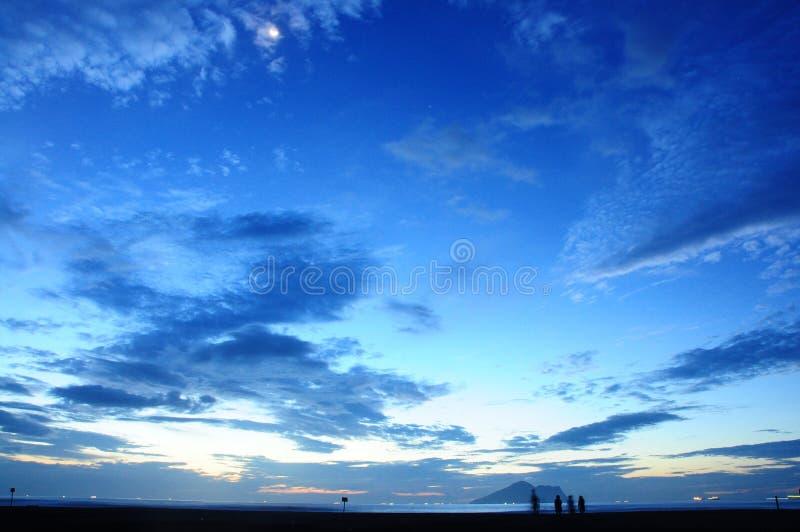 È l'alba a Ilan, Taiwan E l'alba è molto bella fotografie stock