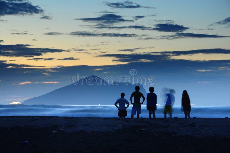 È l'alba a Ilan, Taiwan E l'alba è molto bella immagini stock