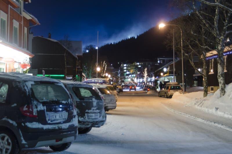 È l'inverno della via principale fotografie stock libere da diritti
