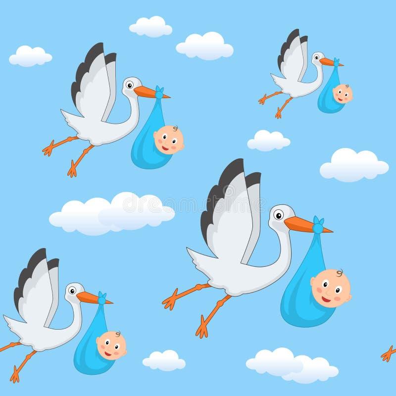 Una cicogna del ragazzo che pilota il modello senza - Immagini di cicogne che portano bambini ...