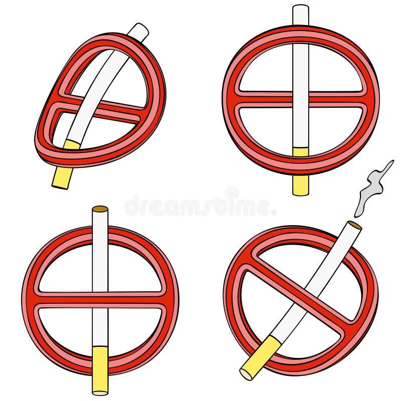 È Vietato Per Fumare (segno Quattro 3d) Fotografia Stock Libera da Diritti