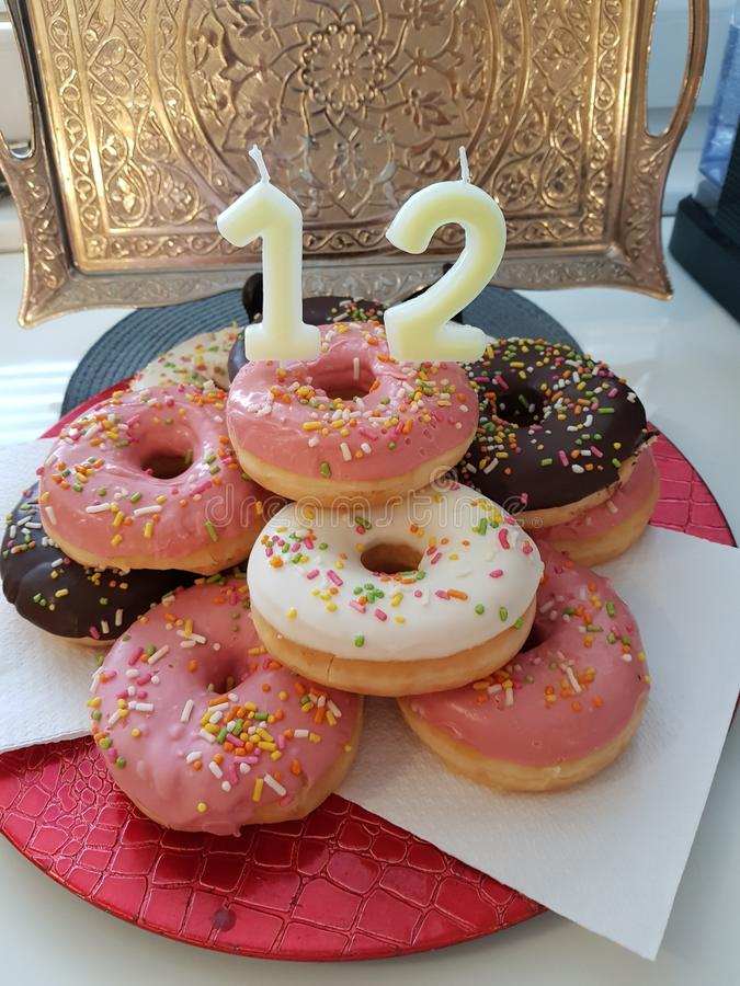 12ème anniversaire images stock