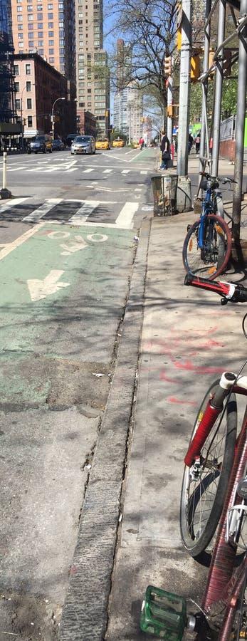 9ème avenue Ruelle de vélo images stock