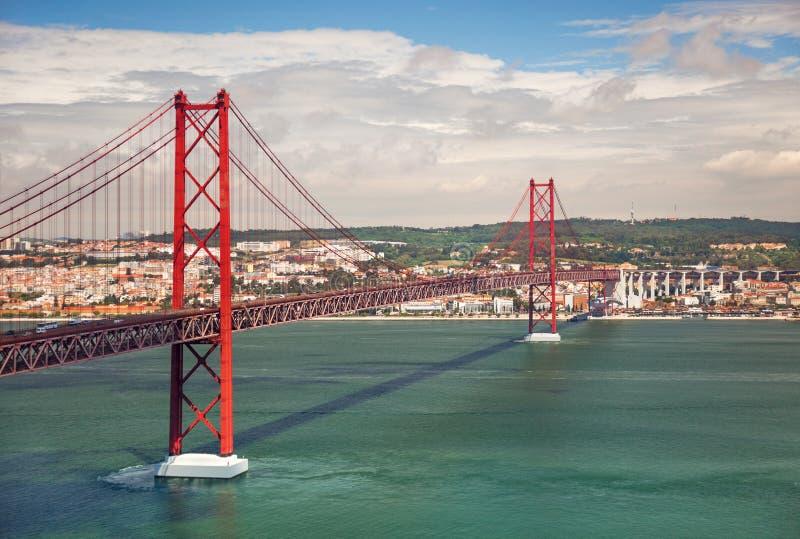 25ème d'April Suspension Bridge à Lisbonne, Portugal, Eutope photo stock