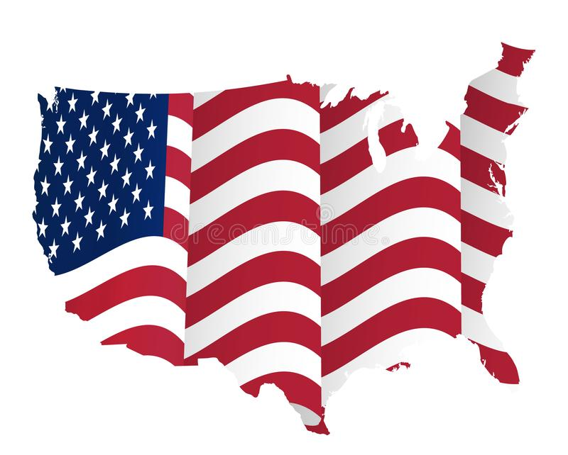 4ème du concept de juillet, Jour de la Déclaration d'Indépendance heureux illustration de vecteur