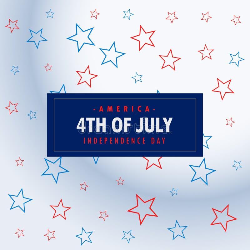 4ème du fond d'argent de juillet illustration libre de droits