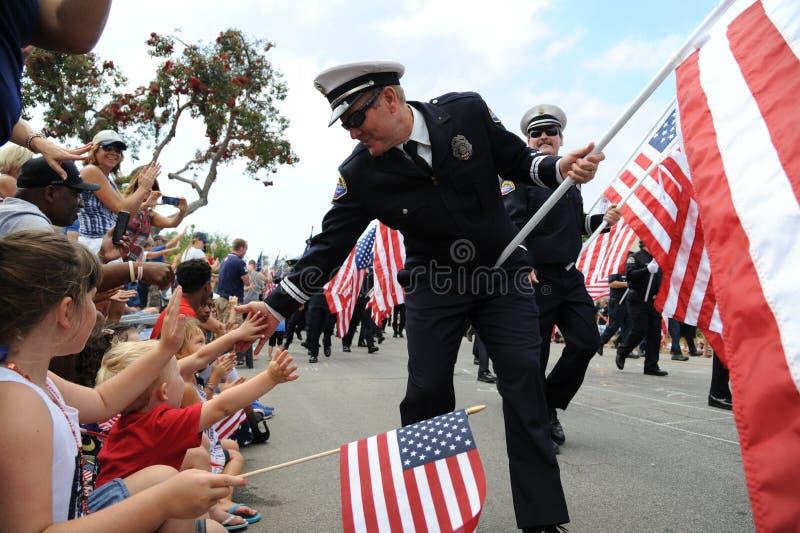 4ème du Huntington Beach CA Etats-Unis de défilé de juillet photographie stock
