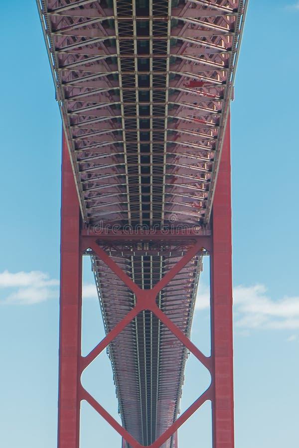 25ème du pont d'avril à Lisbonne photos libres de droits