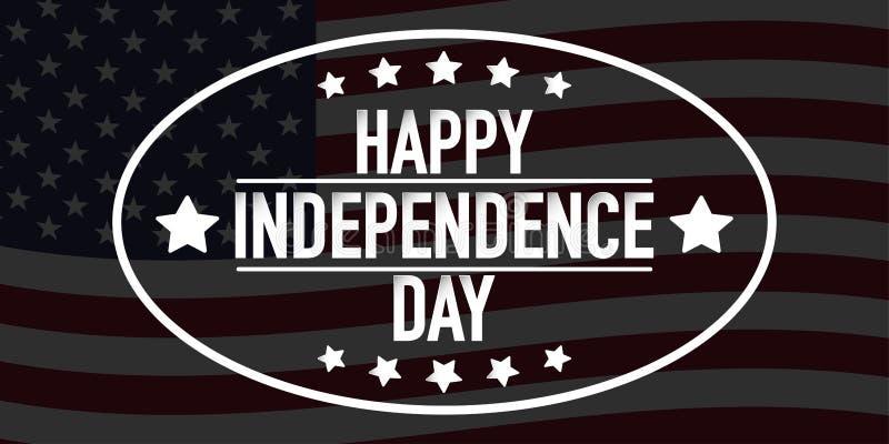 4ème du vecteur de bannière de Jour de la Déclaration d'Indépendance de juillet illustration de vecteur
