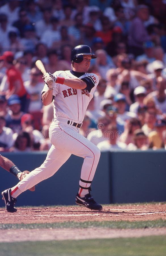 3ème joueur de base Scott Cooper de Boston Red Sox image stock