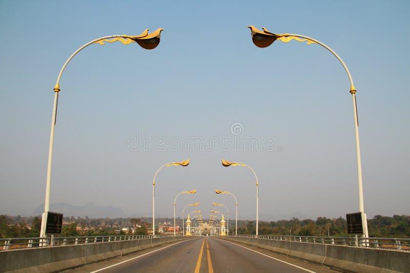 3ème pont d'amitié du Thaïlandais-Laotien (Nakhon Phanom-Kham Muan) image stock