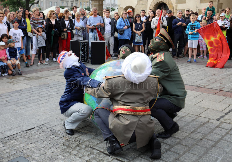 30ème rue - festival international des théâtres de rue à Cracovie, Pologne photographie stock libre de droits