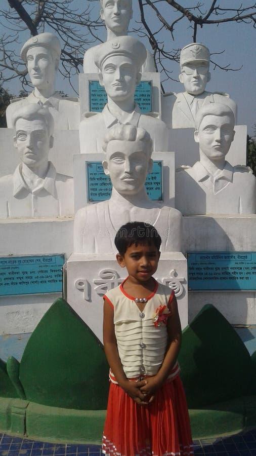 7ème statue de combattants de l'indépendance de Bbangladesh images stock