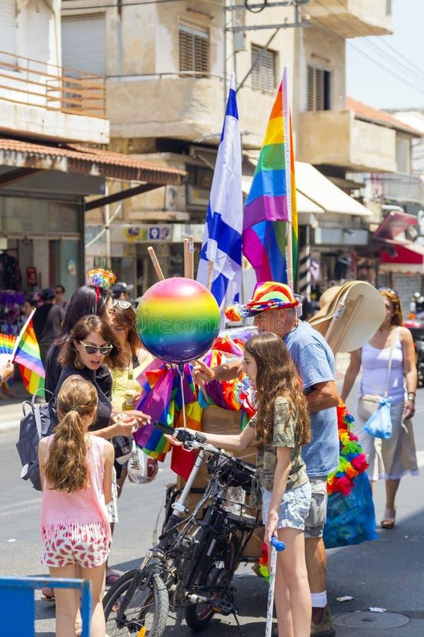 20ème téléphone Aviv Pride, Israël photographie stock libre de droits