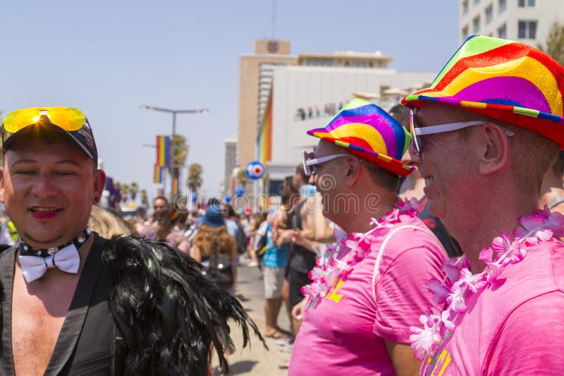 20ème téléphone Aviv Pride, Israël photographie stock