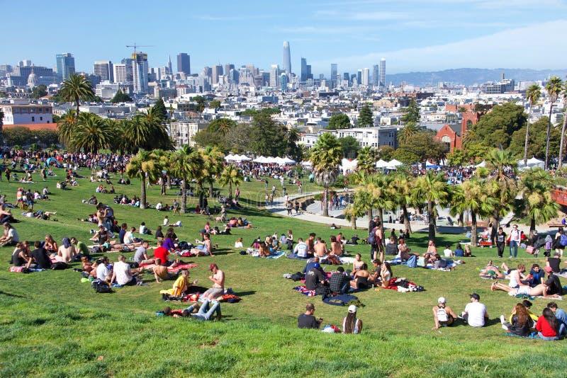16ème transport annuel mars de San Francisco image libre de droits