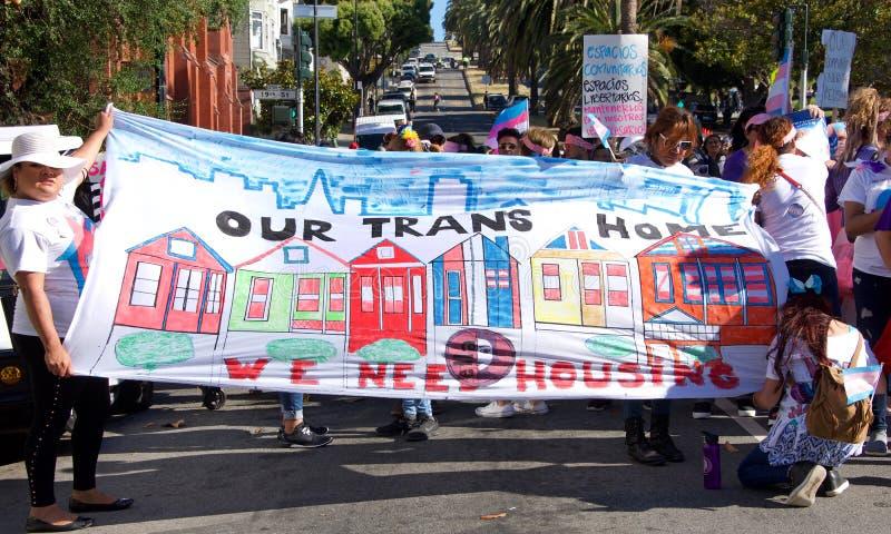 16ème transport annuel mars de San Francisco photo stock