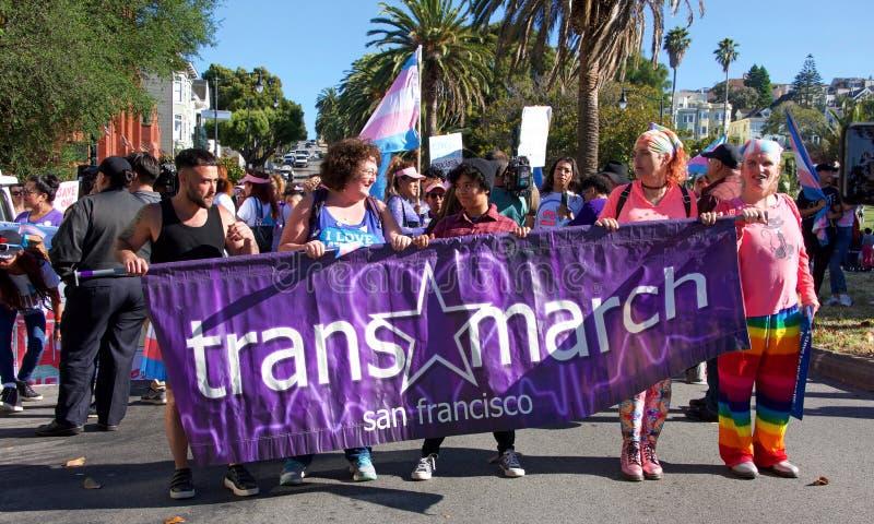 16ème transport annuel mars de San Francisco photographie stock