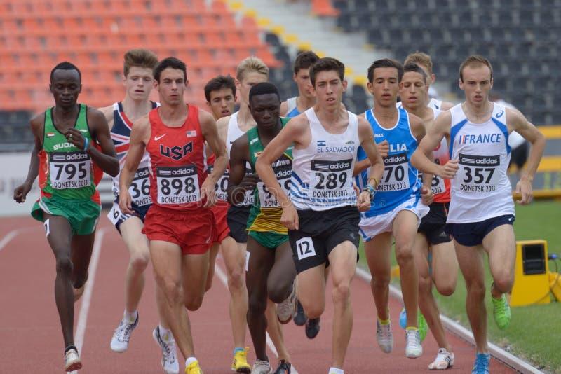 8èmes championnats de la jeunesse du monde d'IAAF images stock