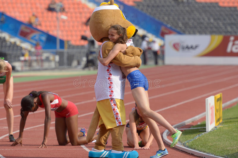 8èmes championnats de la jeunesse du monde d'IAAF image stock