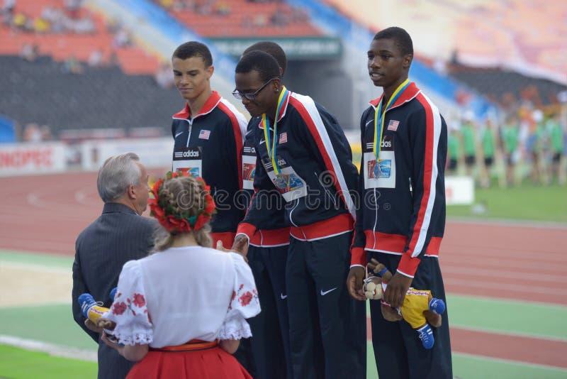 8èmes championnats de la jeunesse du monde d'IAAF photos stock