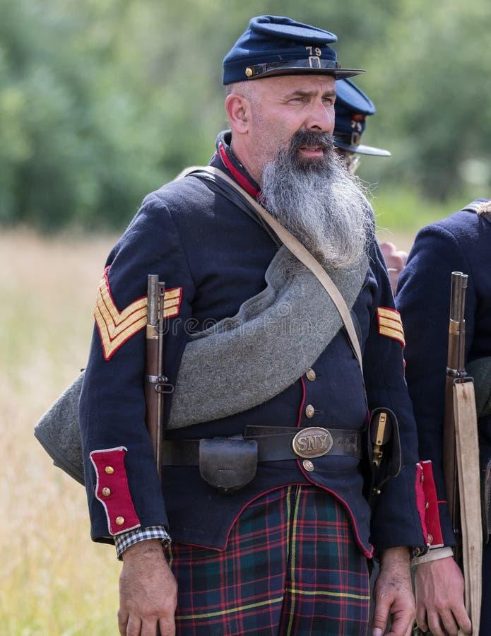 Ère de guerre civile photos stock